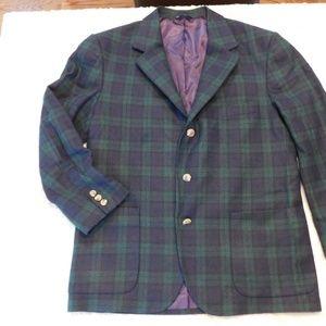 Large Tommy Hilfiger Plaid blazer wool, 3 button.